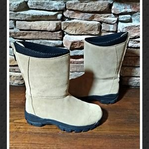 Lands End Suede Mid Calf Boots